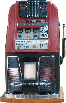 1009 25 Cent Mills Hi Top 777 Slot Machine Lot 1009