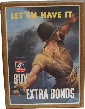 Official US Treasury War Bond Poster