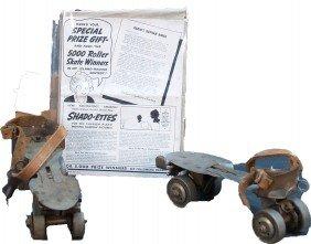 Lot Of Vintage Roller Skating Items: