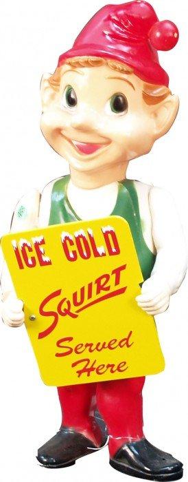Plastic Light-Up Squirt Elf Figural Advertisement