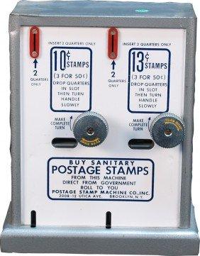 Coin-Op Metal Postage Stamp Vending Machine C1960'