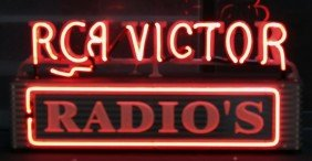 """RCA VICTOR - RADIO'S"" Neon Box Sign"