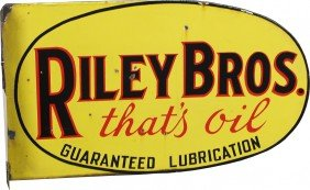 """RILEY BROS. - That's Oil"" Double Sided Flange Por"