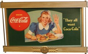 "Coca Cola ""They All Want Coca Cola"" Cardboard Adve"