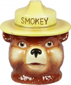 Norcrest Smokey The Bear Ceramic Cookie Jar Lot 83