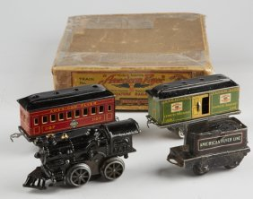 Vintage American Flyer Miniature Railroads Train Set Lot 197