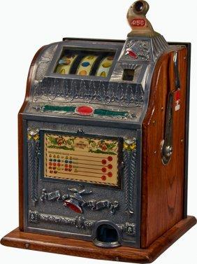 25 Cent Mills Novelty Operators Bell Owl Slot Machine Lot 244