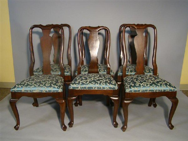 299 SIX ETHAN ALLEN QUEEN ANNE STYLE DINING CHAIRS Lot 299