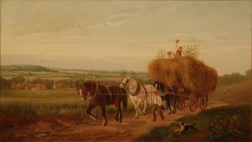ROSA BONHEUR ORIGINAL OIL ON CANVAS LANDSCAPE