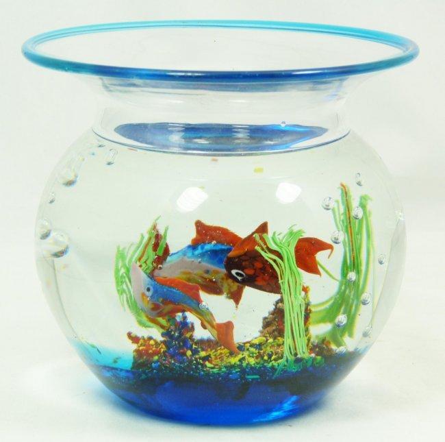 298 Murano Blown Glass Fish Bowl Decoration Lot 298