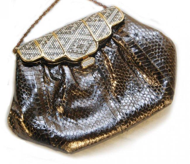 2 sasha new york deco style jeweled hand bags lot 255 - Style new york deco ...