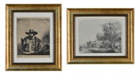 Two Rembrandt Prints
