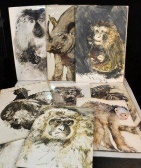 Miriam H. Beerman (Am, B. 1923)  Animal Paintings