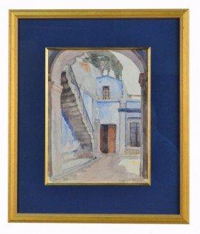 Mary H. Peixotto (Am., 1869 - 1956) Street Scene