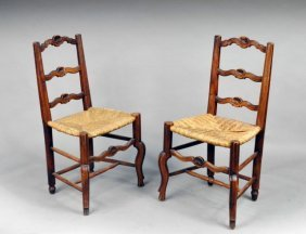 Set Of Four Lancashire Chestnut Side Chairs