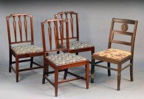 Set Of Three Mahogany Side Chairs