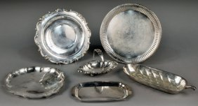 Miscellaneous Group Of Silver Plated Trays