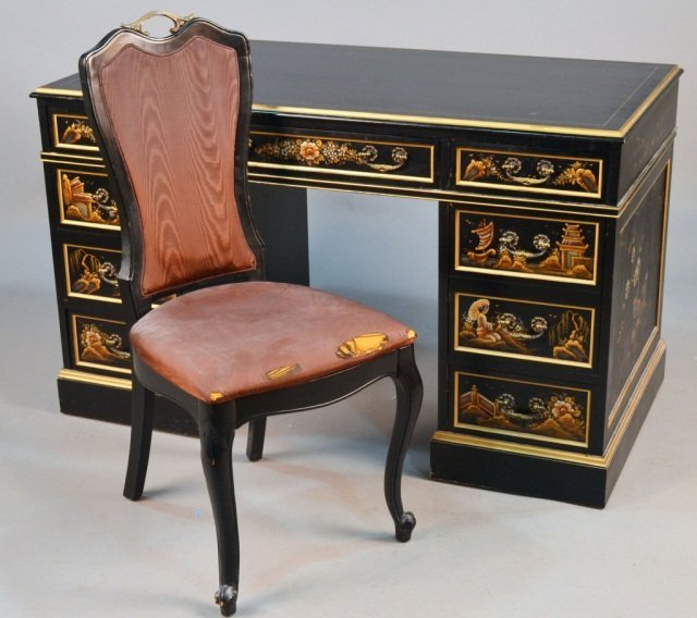 Asian style ebonized desk lot 630 for Asian inspired desk