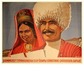 Dolgorukov, N. A Turkmen Language Election Poster,