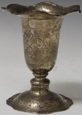 SHREVE & CO. STERLING SILVER COMPOTE