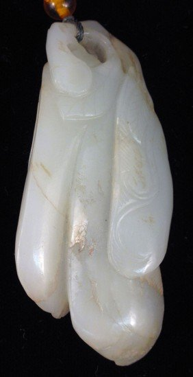 CHINESE WHITE JADE CARVING  Size: 3 1/2""