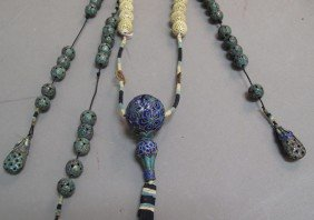 QING DYNASTY COURT BEADS Length: 59""