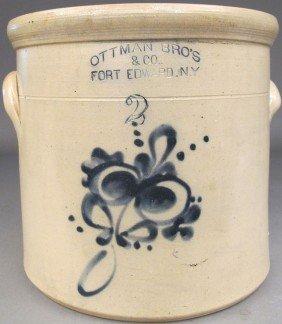 AMERICAN 19TH CENTURY CROCK Ottman Bros.& Co. Fort