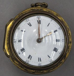 ENGLISH FUSEE POCKET WATCH Circa 18th Century L