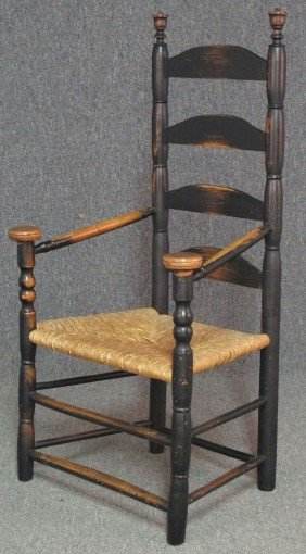 PILGRIM SLAT BACK ARM CHAIR Possibly Connecticu