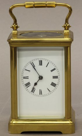 FRENCH CARRIAGE CLOCK Circa Late 19th Century Height