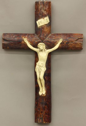 FRENCH PORCELAIN CROSS Circa Late 19th/early 20th