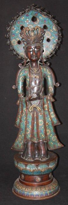 Chinese Bronze Quan Yin Statue