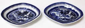 Pair Of English Export Porcelain Plates