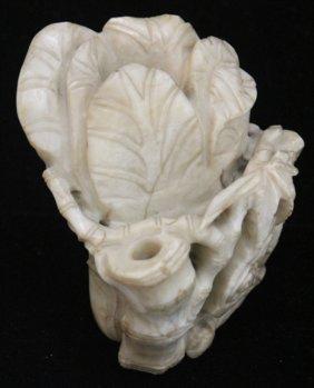 Chinese Jade Bamboo Figural Carving