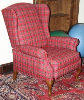 Lot Of (2) Parlor Furniture, Tartan Fabric Cover