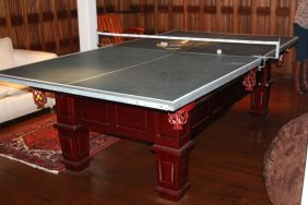 Raised Panel Modern Pool Table
