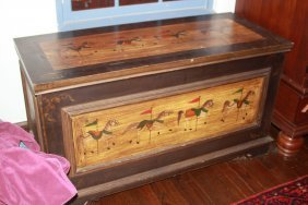 Contemporary Storage Chest With Carousel Design