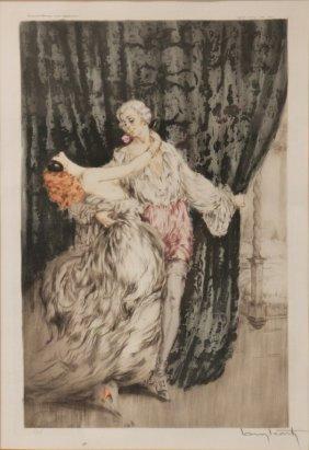 """Louis Icart Etching, """"casanova,"""" 1928"""