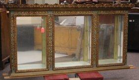 Venetian Style Painted Triple Door Wall Curio