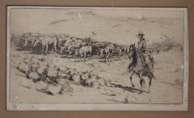 Edward Borein Lithograph, Pencil Signed