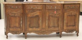 French Style Walnut Carved Sideboard