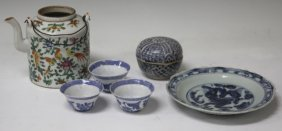 Lot Of (6) Vintage Chinese Pottery