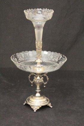 Victorian Silverplate & Glass Epern