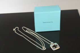 Tiffany & Co. Sterling Silver Pendant W/chain