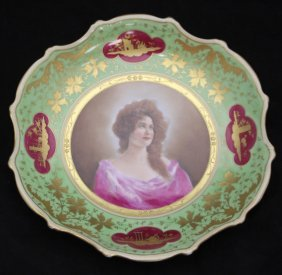Royal Vienna Painted Portrait Plate