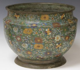 Chinese Cloisonne Jardiniere, 19th Century