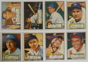 Lot Of 8 Different 1952 Topps Baseball Cards