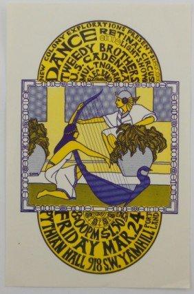 Pythian Hall Dance Handbill - Portland