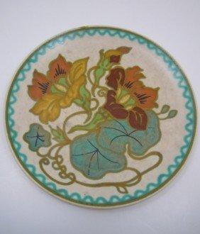 Vintage Art Nouveau Gouda Plate