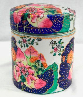 Beautiful Antique Chinese Ceramic Lidded Container